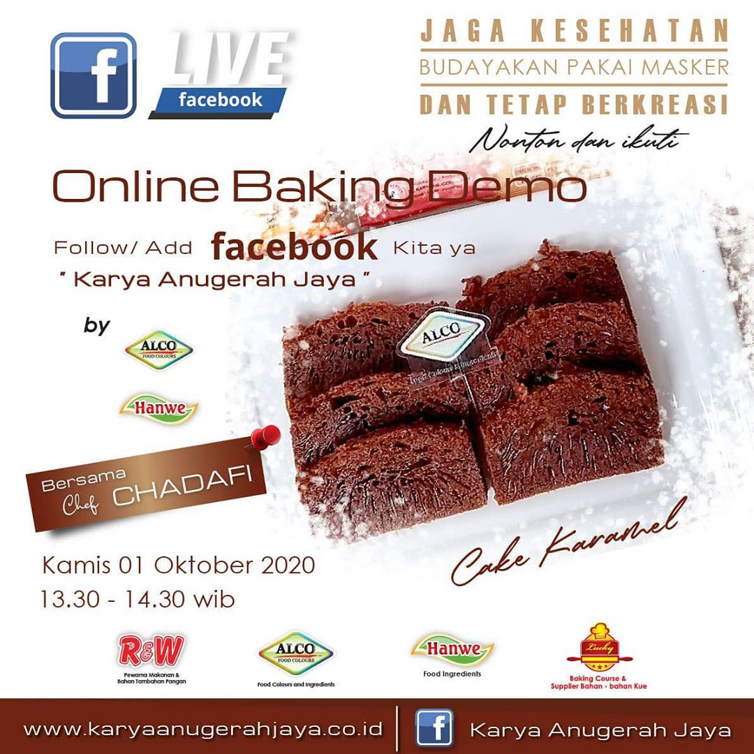 Event LIVE Baking Demo Cake Caramel Photo