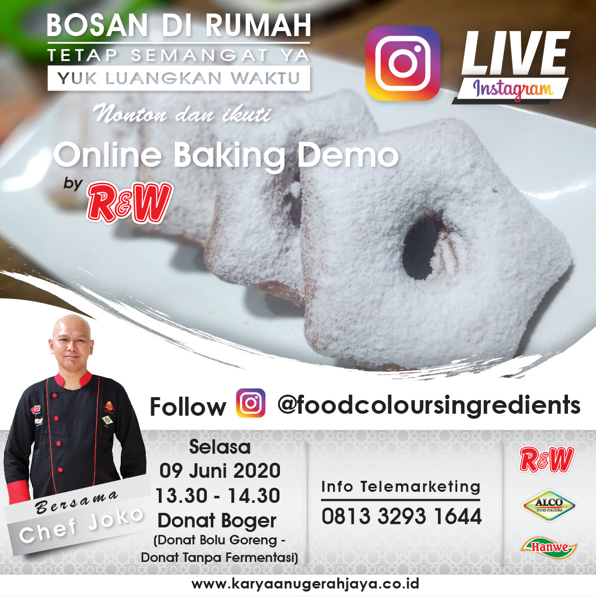 Event LIVE Baking Demo Donat Boger Photo