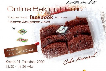 Event LIVE Baking Demo Cake Caramel