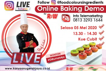 Event LIVE Baking Demo Kue Cubit