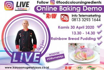 Event LIVE Baking Demo Rainbow Bread Pudding Photo
