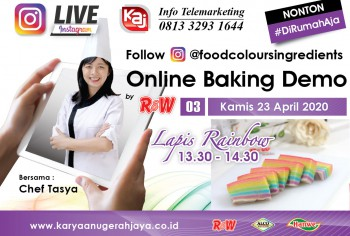 Event LIVE Baking Demo Lapis Rainbow Photo