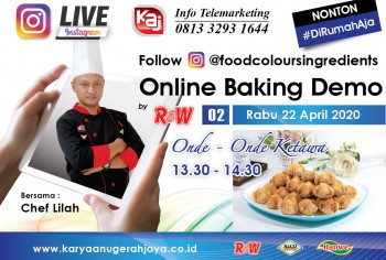 Event LIVE Baking Demo Onde-onde Karakter Photo