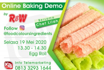 Event LIVE Baking Demo Egg Roll
