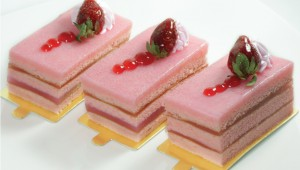 Strawberry Kaya Layer Cake Photo